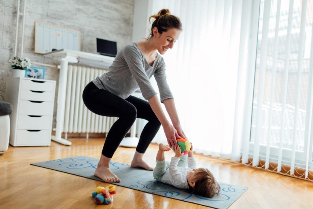 Cvičení rodičů s dětmi 12 - 24 měsíců